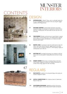 Munster Interiors Magazine Contents Page 2